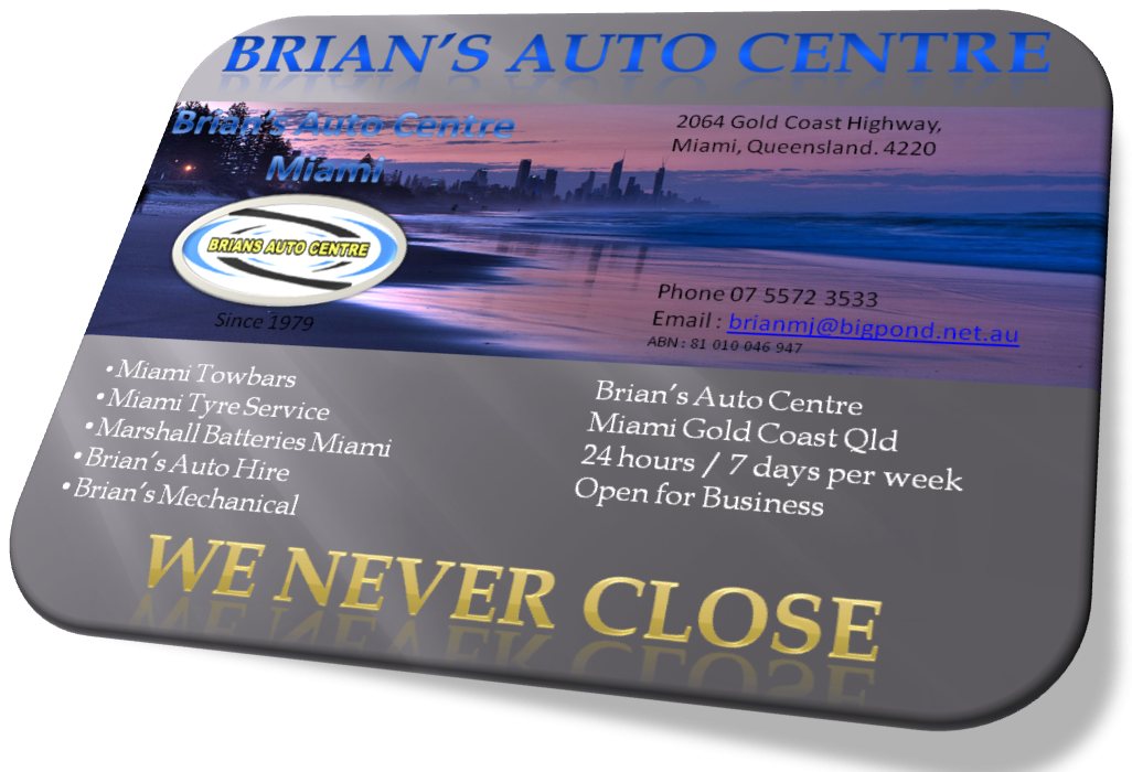 Brian's Auto Centre, Miami Gold Coast